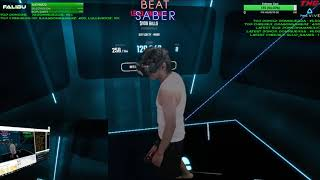 Highlight: Beat Saber VR! Darth Falibu Saber Staff - Hard | Day 6 - FULL
