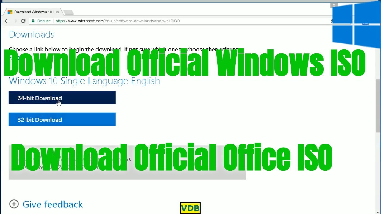 Download Windows 7,8,10 and Office Direct From Microsoft