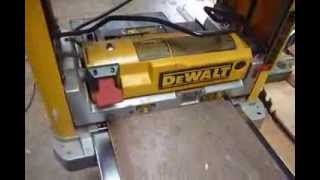 Dewalt Dw 734 Planer With  Byrd Shelix Head  Cutting