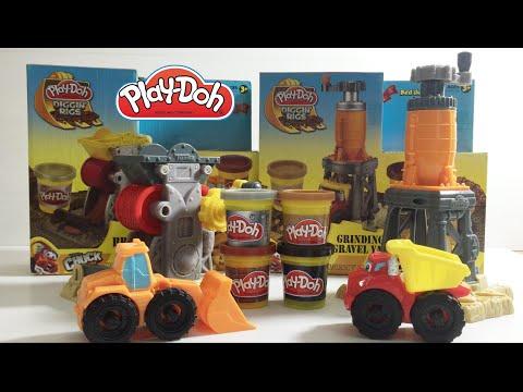 ของเล่นเด็ก เพลโดว์ รถตักดิน รถแม็คโคร รถดั้ม Play-doh Excavator TheKidsToy