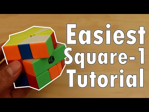 How To Solve The Square-1 (NO Long Algorithms)   Easiest Tutorial