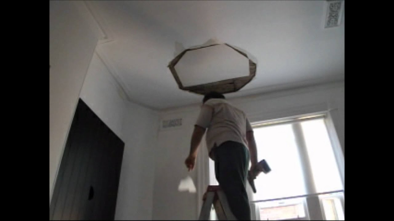Plastering How To Repair Big Hole in The Ceiling P 1