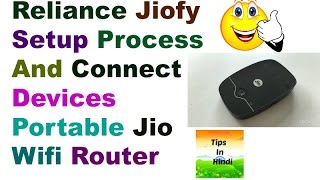 Reliance Jiofy Set Up and connect devices | Portable wifi router