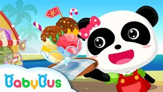 Baby Panda Making Juice Ice Cream & Smoothies - Fun and Learning Game for Kids - BabyBus