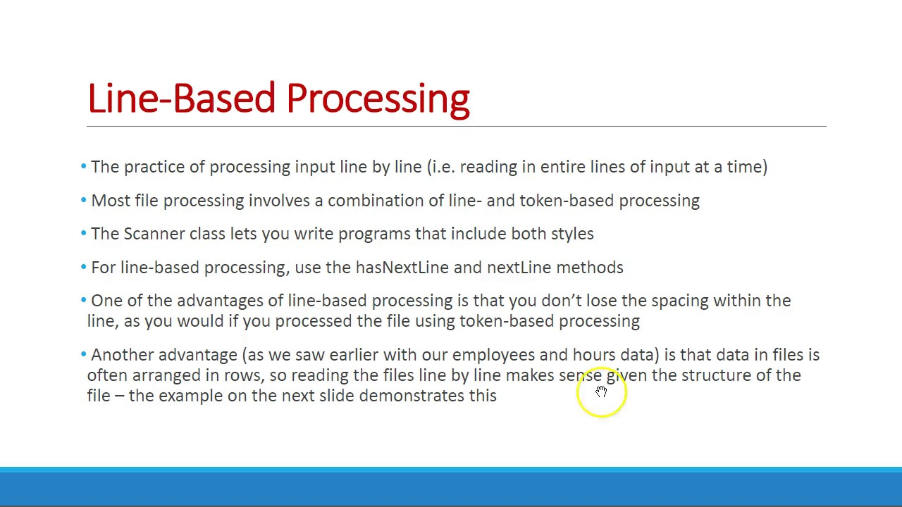 Java File Processing Lecture - Building Java Programs Ch 6