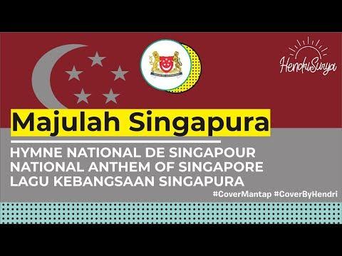 Majulah Singapura - Singapore National Anthem (cover by Me) + LYRICS (MY/EN/MAND/TAMIL)
