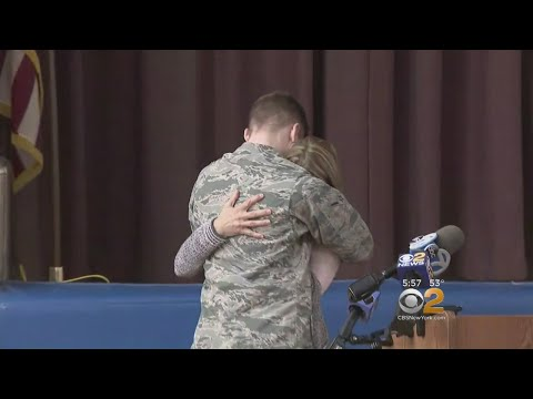SEE IT: Air Force Member Surprises His Mother After Overseas Deployment