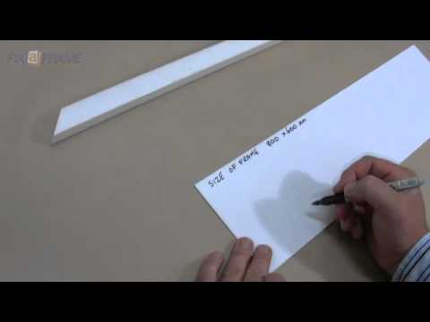 measure picture frame length of framing material to buy youtube