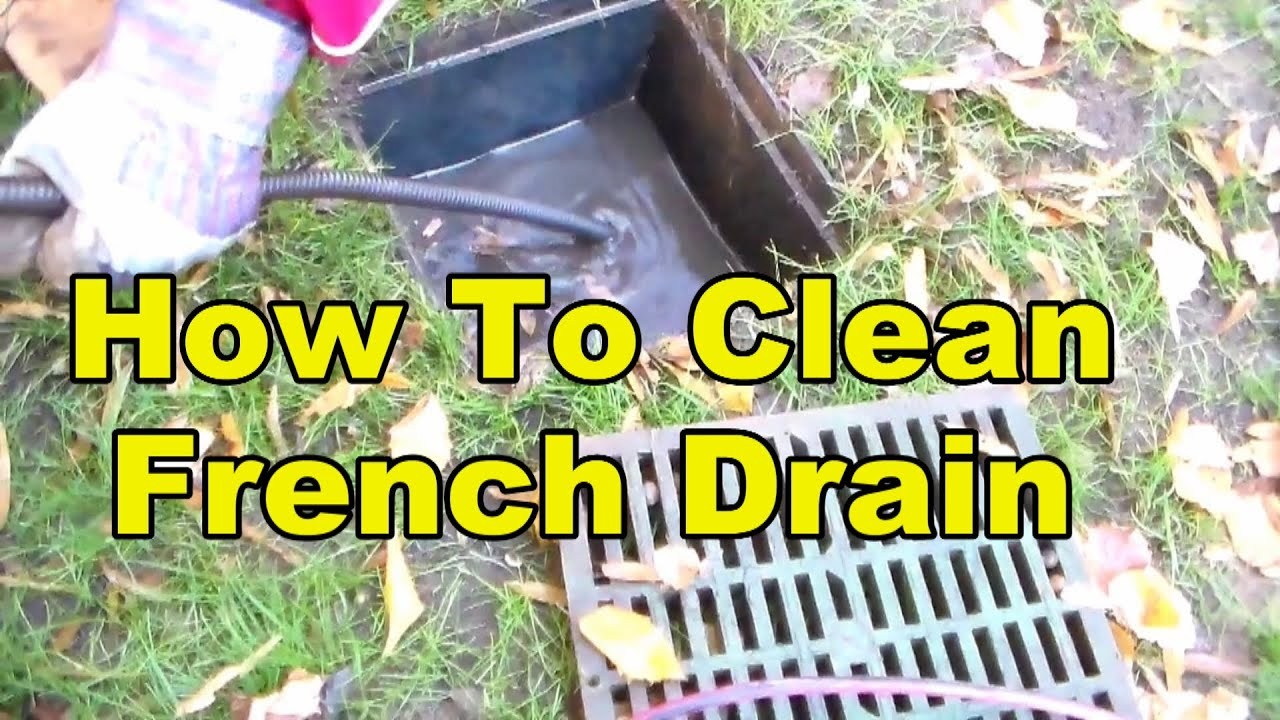 How To Clean A French Drain Pipe Youtube