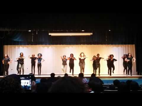 Blue Fish Lady Blues Lynnhaven Middle School Step Team competition