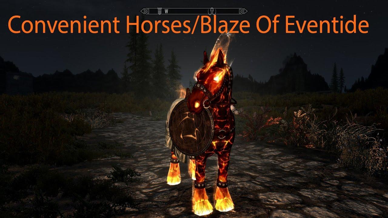 Convenient Horses V2 and Blaze Of Eventide Skyrim Special Edition Mod  Showcase By Alek