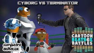 Cyborg VS Terminator - Cartoon Beatbox Battle Storyboard