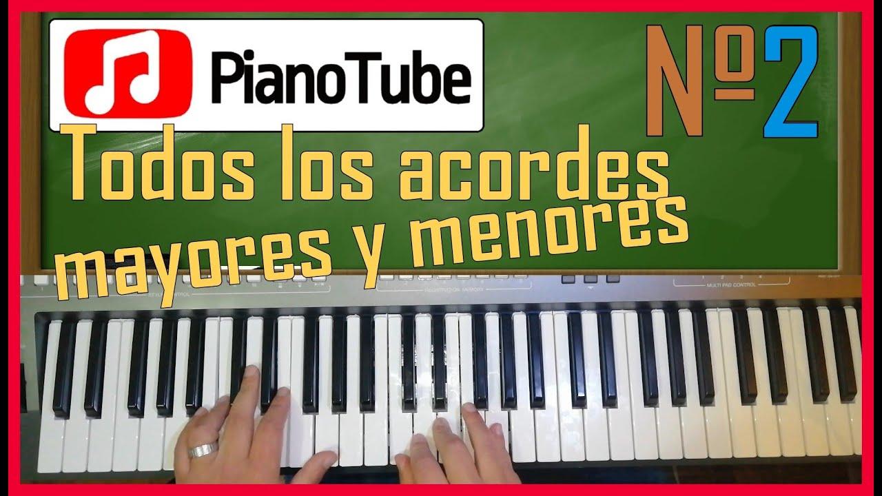 Curso de PIANOTUBE Lección #2: Todos los acordes BÁSICOS!!!!