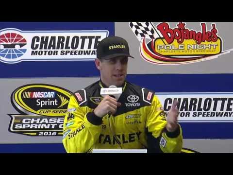 2016 NASCAR Charlotte Edwards and Kyle Busch Q&A