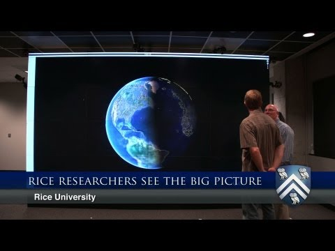 Visualization lab at Rice allows interaction with scientific data on 200-inch 3-D screen