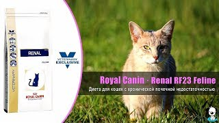 Диета для кошек с хронической почечной недостаточностью · Royal Canin Renal RF23 Feline