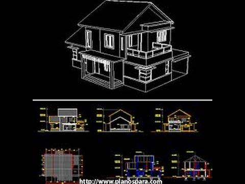 Planos de casas en autocad youtube for Casa cad