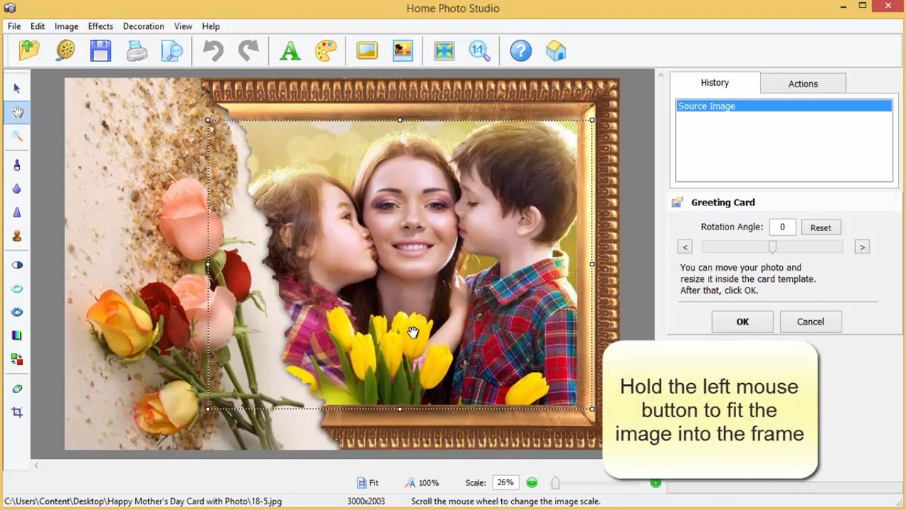 How to Make a Mother\'s Day Card with Photo - YouTube