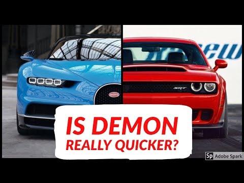 2018 Dodge Demon vs Bugatti Chiron || Top Speed and Acceleration Comparison