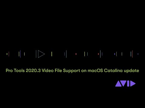 Pro Tools 2020.3 Video File Support on macOS Catalina Update