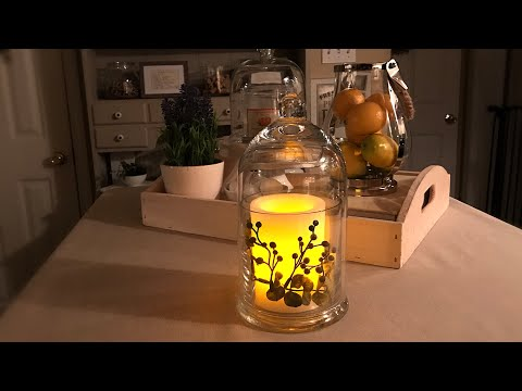 Flameless Candle Cloche