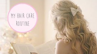 My Hair Care Routine | How to Tame Frizzy Hair! ♡