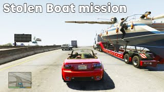 Let's Play GTA 5 Michael Stolen Boat Mission PS4 Gameplay