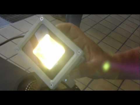 LED-Licht beim Tag der offenen Tür in der media city leipzig