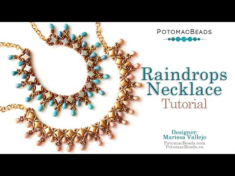 Raindrops Necklace - DIY Jewelry Making Tutorial by PotomacBeads