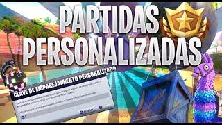 PARTIDAS PRIVADAS FORTNITE