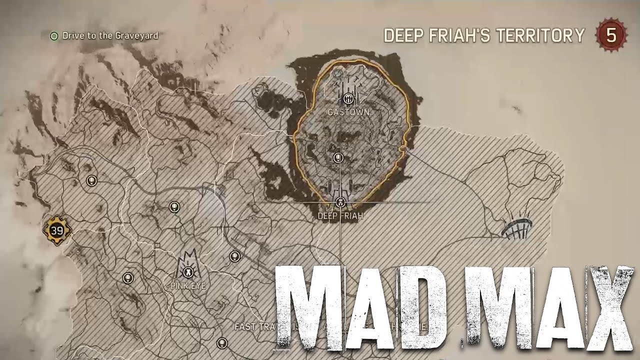Mad Max - Open World Map Size (Showcase)