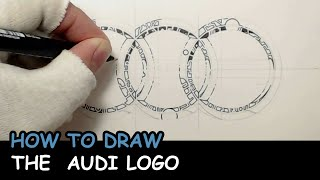 How to draw The Audi logo