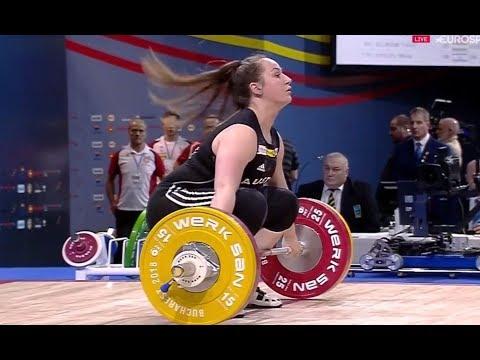 Sarah Fischer - Vize-Europameisterin - Zweikampf 226 kg - Kat. 90kg