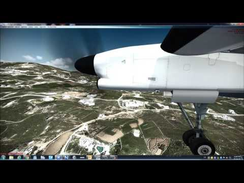 Landing at Mykonos with DH8DQ400