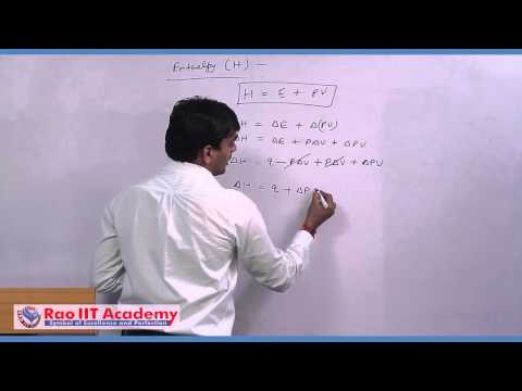 Laws of Thermodynamics  - IIT JEE Main and Advanced Chemistry Video Lecture