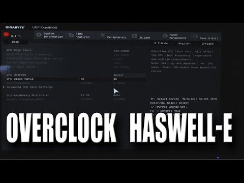 X99 Overclocking Tutorial - i7-5820k to 4.0ghz! (Full Guide