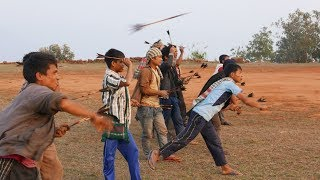 """India  """"Teer"""" archery lottery and throwing arrows tradition of Meghalaya"""