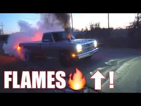 First Gen Cummins shoots FLAMES!!!! NOT GOOD!!!!
