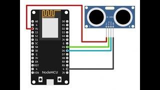 Ultrasonic sensor with nodemcu cayenne mqtt iot example 3