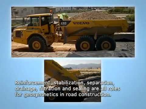 Geotextile & geotechnical fabrics - Road Construction reinforcement