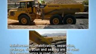 Geotextile & geotechnical fabrics - Road Construction reinforcement
