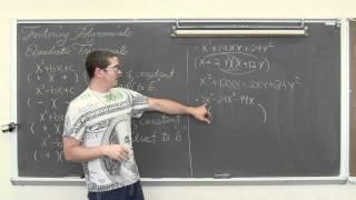 Factoring Quadratic Trinomial x^2+bx+c Polynomial