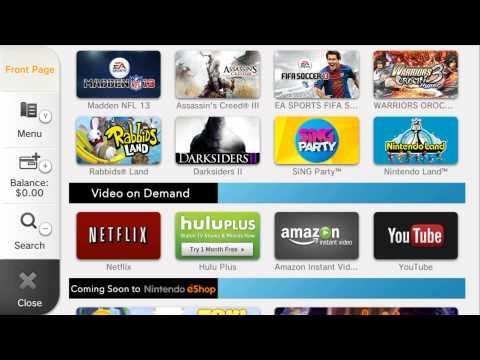 Nintendo Wii U eShop Update  Miiverse Overview! New Games, Video On Demand, Features
