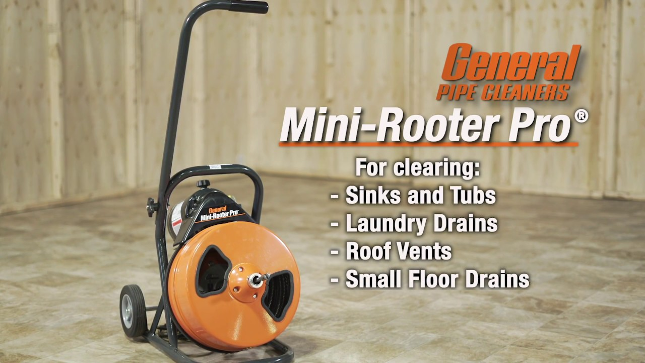 Mini-Rooter Pro - Clear drains from rooftop to basement
