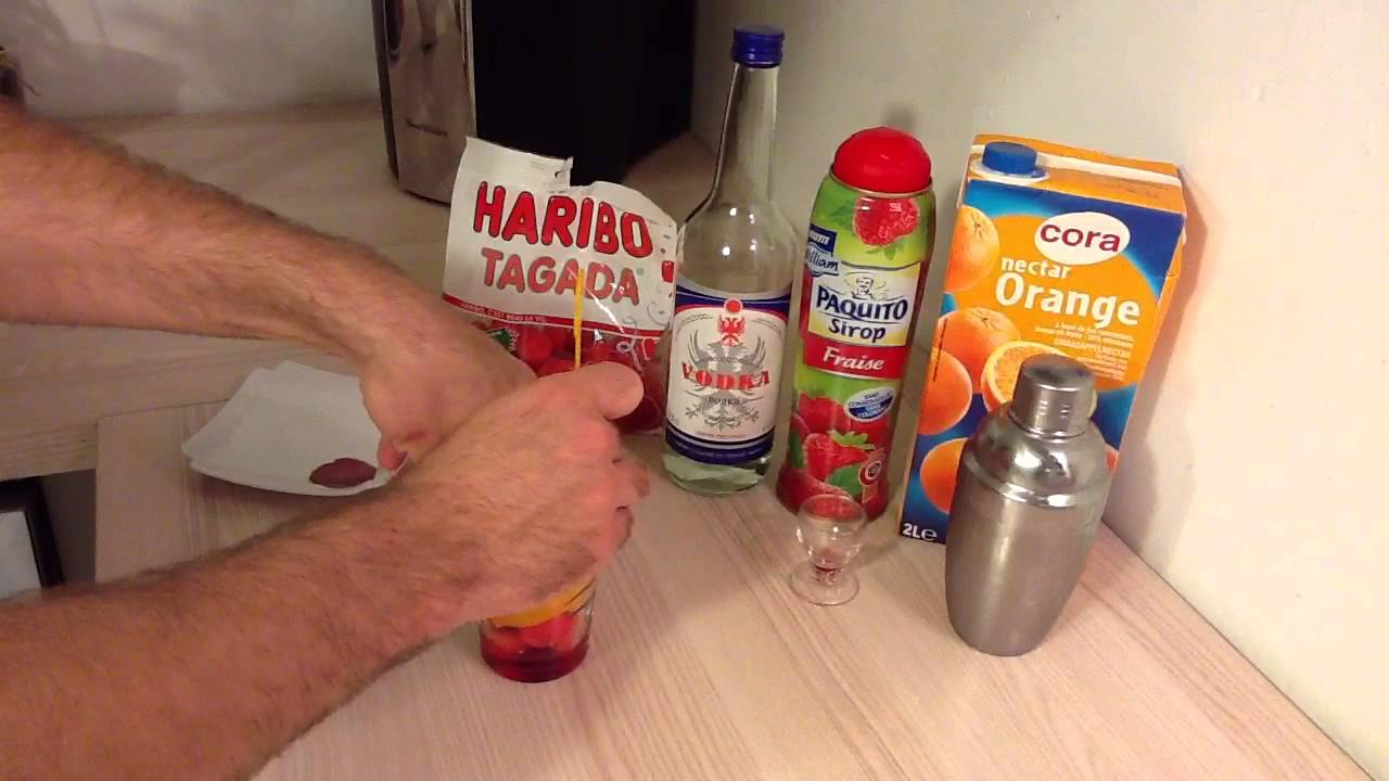 Faire Un Cocktail Tagada Orange Cocktail Impressionnant Youtube
