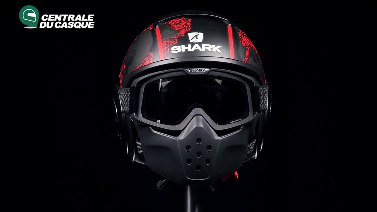 360 Shark Drak Sanctus Mat Black Red Kra Centrale Du Casquecom