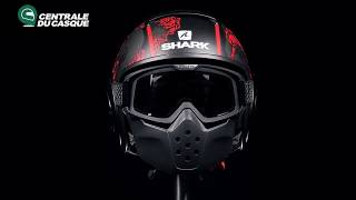 360° Shark Drak Sanctus Mat Black Red KRA - Centrale-du-casque.com Mp3