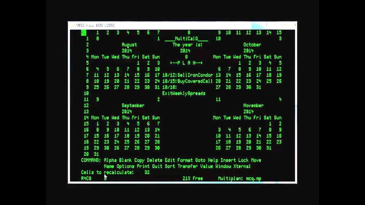 Automating MS MultiPlan Spreadsheets In 8-Bit CP-M - YouTube Multiplan