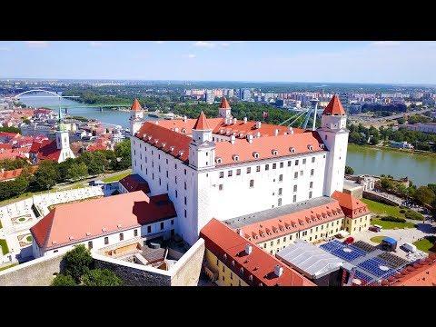 A Royal View of Bratislava / Pozsony Slovakia - 4K