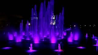 Поющий фонтан в Воронеже ночью 21 мая 2019 | Музыкальные фонтаны Воронежа
